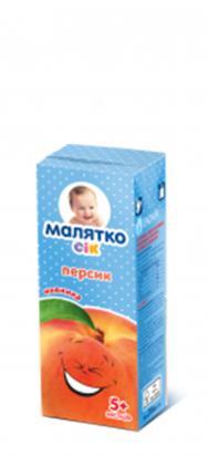 Малятко Сок персик (тетра-пак)