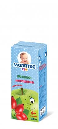 Малятко Сок яблоко-шиповник  (тетра-пак)
